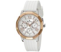 98 N101 Damen Uhr mit Kautschuk-Armband, Grau