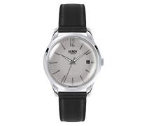 Datum klassisch Quarz Uhr mit Leder Armband HL39-S-0075