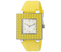 Armbanduhr für mit Analog Anzeige, Quarz-Uhr und Silikonarmband - Wasserdichte Damenuhr mit zeitlosem, schickem Design - klassische