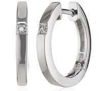Creolen 925 Sterling Silber 2x Diamanten 0.02 ct. 360210173