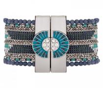 Damen-Manschetten Armbänder Versilbert E18METERNA