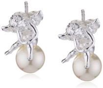 Ohrstecker pearl of angels 925 Silber Perle Weiß