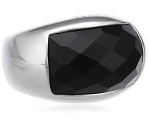 Damen-Ring 925 Sterling Silber Onyx Schwarz