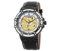 Skeleton Automatik Uhr mit Leder Armband BM235-602