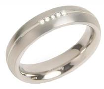 Ring You and me Titan Diamant (0.025 ct) weiß Brillantschliff