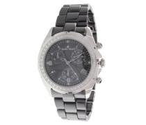 Armbanduhr - Analog Quarz - Premium Keramik Armband - Perlmutt Zifferblatt - Diamanten und Swarovski Elemente - STM18SM24