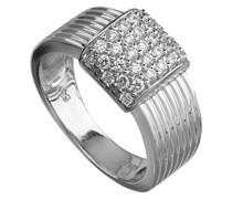 Ring Sterling Silver 925 Silber rhodiniert Zirkonia Rundschliff weiß