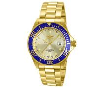 Analog Quartz Uhr mit Edelstahl beschichtet Armband 14124