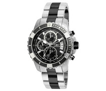 22416 Pro Diver - Scuba Uhr Edelstahl Quarz Schwarzen Zifferblat