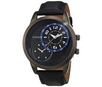 Herren-Armbanduhr Analog Quarz Leder W11174G2