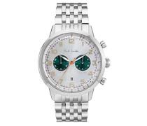 Chronograph Quarz Uhr mit Edelstahl Armband P10016