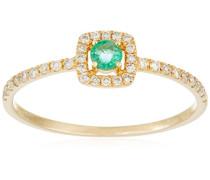 Ring 9 Karat (375) Gelbgold Smaragd-badm 07084-0001
