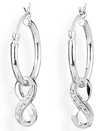 Ohring Einhänger für Creolen 925 Silber Infinity mit Zirkonia LD MR 51