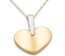 Halskette 9 Karat 375 Gelbgold Herz 45cm MA9021N
