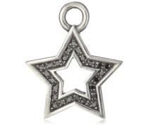 Ohring Einhänger für Creolen 925 Silber geschwärtzt mit Zirkonia Sternform LD MR 37 B