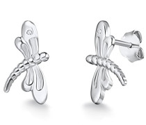 Ohrstecker 925 Silber rhodiniert Diamant (0.01 ct) Rundschliff weiß 60915014