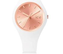 ICE chic White Rose-Gold - Weiße Damenuhr mit Silikonarmband - 001399 (Small)