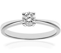 Verlobungsring 18 K 750 Weißgold Diamant 0