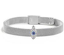 Damen-Charm-Armbänder Edelstahl Kristall SAJT32