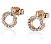 Ohrstecker Kreise 585 Rotgold 32 Diamanten 0