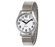 Armbanduhr Mens Easy Read Watch with Bold Hands. Analog Edelstahl Silber R0225.01.2