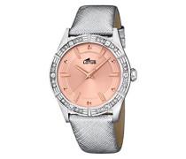Damen-Armbanduhr Analog Leder Silber 15981/3