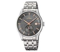 Analog Quarz Uhr mit Edelstahl Armband F20276/3
