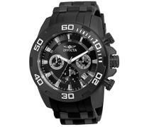 22338 Pro Diver - Scuba Uhr Edelstahl Quarz schwarzen Zifferblat