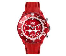 ICE dune Forever red - Rote Herrenuhr mit Silikonarmband - Chrono - 014219 (Large)