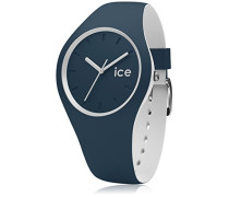 ICE duo Atlantic - Blaue Herrenuhr mit Silikonarmband - 000362 (Medium)