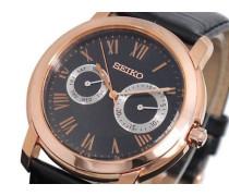 Herren-Armbanduhr Analog Quarz Leder SGN012P1