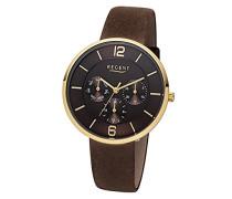 Damen Analog Quarz Uhr mit Leder Armband 12100648