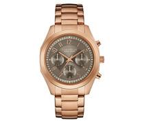 Armbanduhr BOYFRIEND Chronograph Quarz Edelstahl beschichtet 44L198