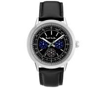 Herren Analog Quarz Uhr mit Leder Armband P10001