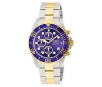 1773 Pro Diver Uhr Edelstahl Quarz blauen Zifferblat