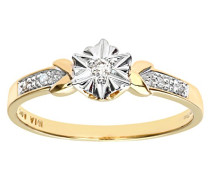Damen-Ring 9 K 375 Gelbgold 1 Diamant