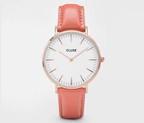 Damen Analog Uhr mit Leder Armband CL18032