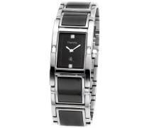 Damen-Armbanduhr Vibes Analog Keramik-Edelstahl