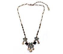 Halskette Messing vergoldet grau 38cm 602-921