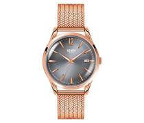 Analog Quarz Uhr mit Edelstahl Armband HL39-M-0118