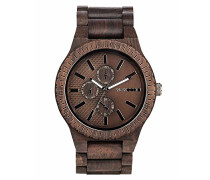 Chronograph Quarz Smart Watch Armbanduhr mit Holz Armband WW30003