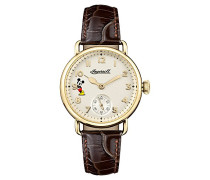 Damen Analog Quarz Uhr mit Leder Armband ID00102