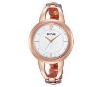 Analog Quarz Uhr mit Edelstahl beschichtet Armband PH8208X1