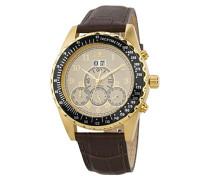 Datum klassisch Automatik Uhr mit Leder Armband BM302a-295A