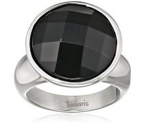 Damen-Ring Jane Edelstahl Glas schwarz