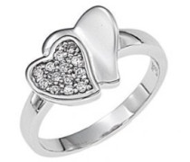 Ring, Sterling-Silber 925, Zirkonoxid, 58 (18.5)