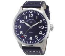 Armbanduhr XL Quarz Analog Leder 6569-515Q-a4