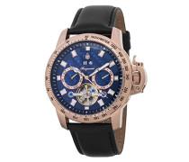 Armbanduhr für mit Analog Anzeige, Automatik-Uhr und Lederarmband - Wasserdichte Herrenuhr mit zeitlosem