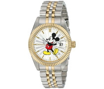 22776 Disney Limited Edition - Mickey Mouse Uhr Edelstahl Quarz silbernen Zifferblat