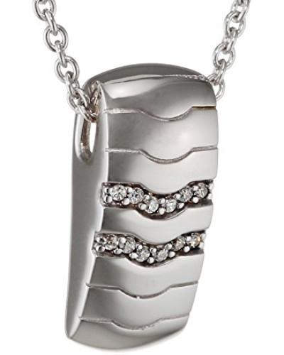 Halskette 925 Sterling Silber rhodiniert Glas Zirkonia Réalisme 42 cm weiß S.PCNL90452A420